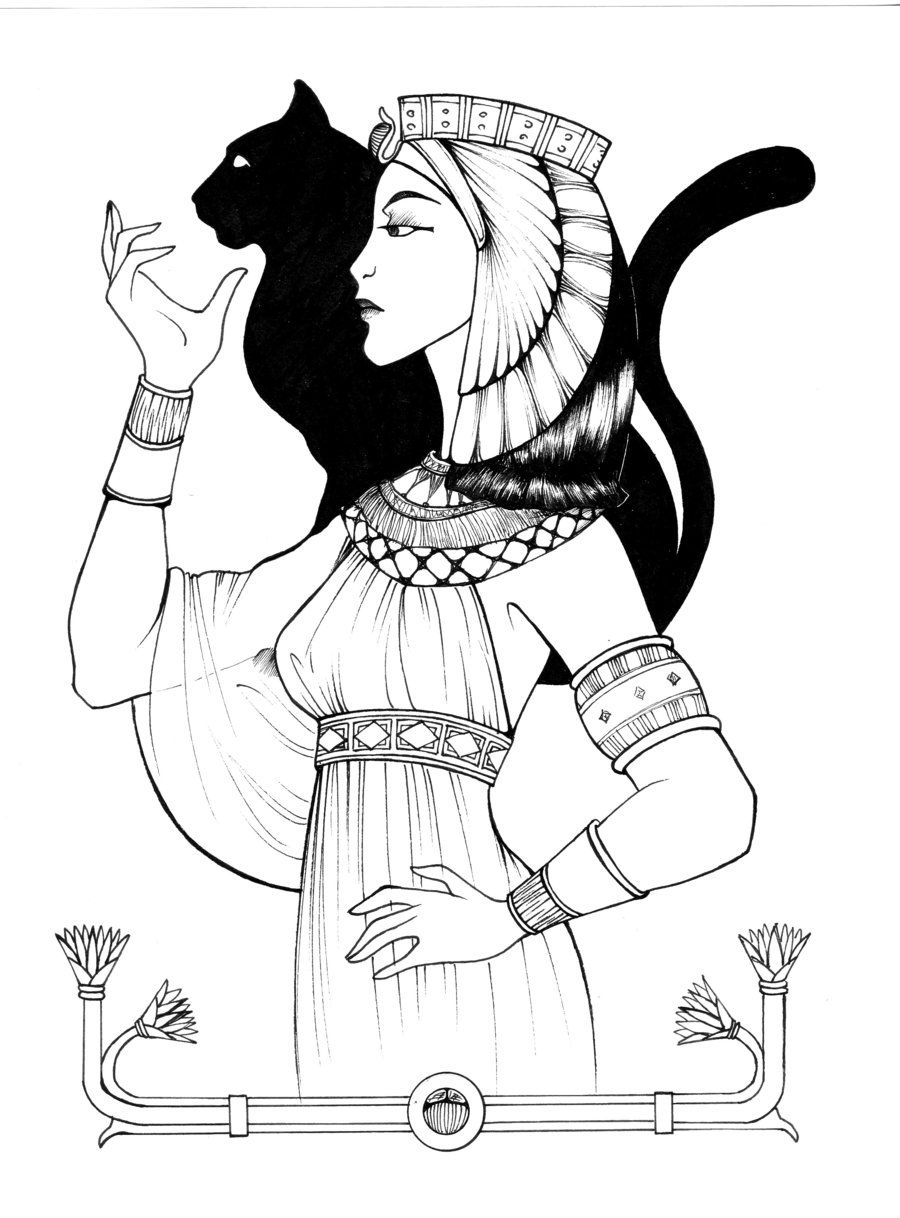 egyptian new empire queen by shyangell on deviantart coloring
