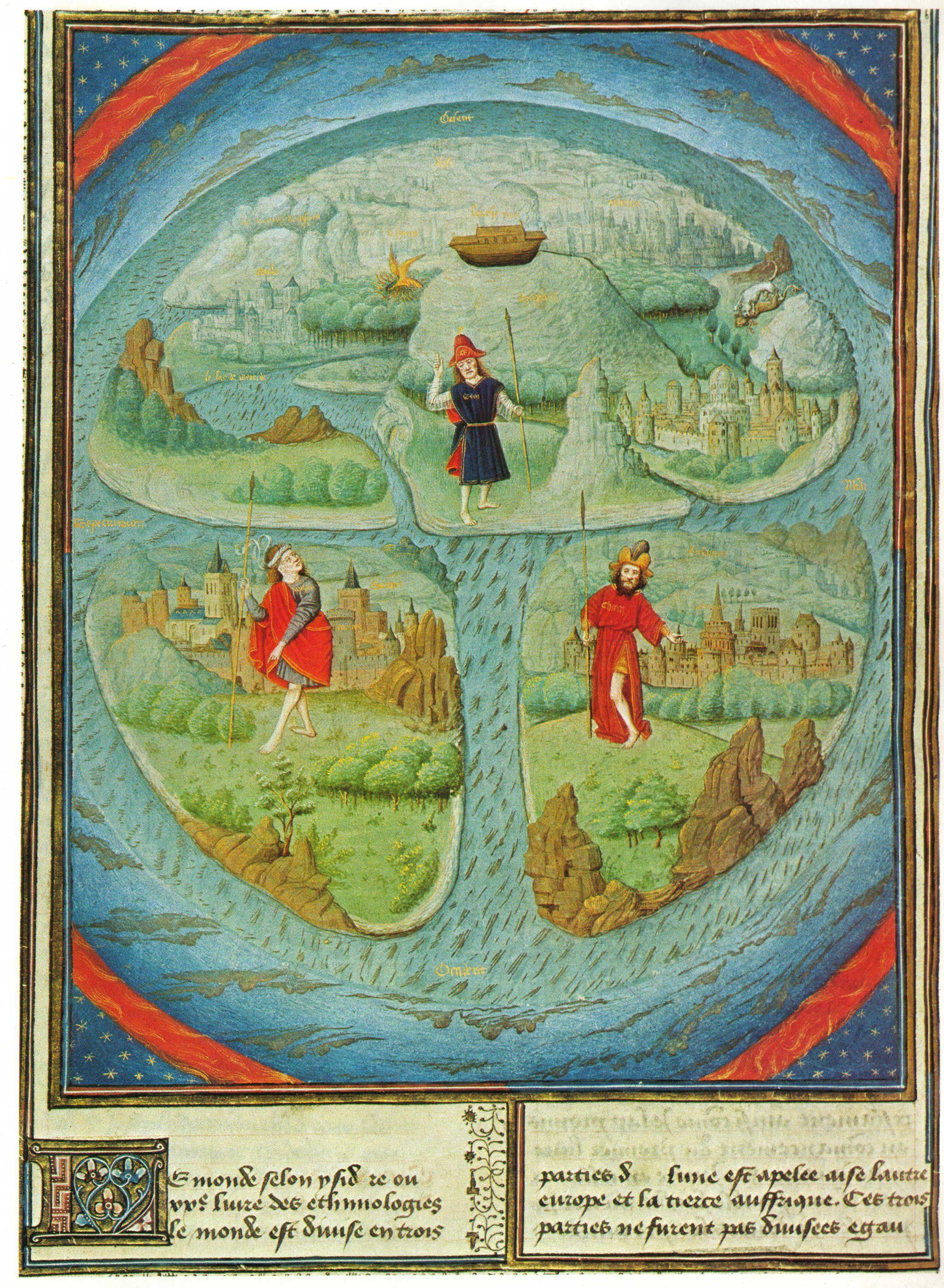 Mappa Mundi In Jean Mansel La Fleur Des Histoires Valenciennes