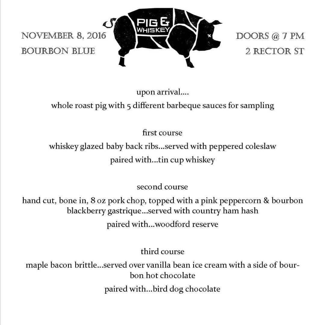 COMING UP....check out our full menu for our upcoming Pig and ...