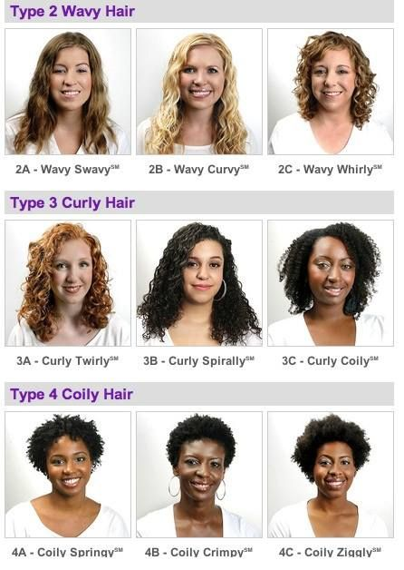 Hair types | Hair chart, Types of curls, Curly hair types