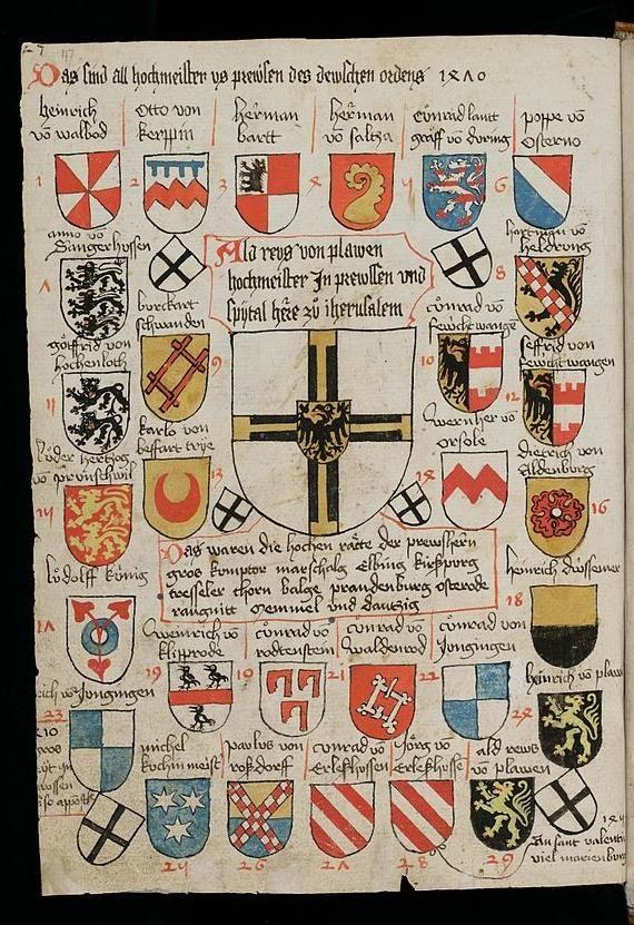 Blasons des chevaliers teutoniques chevalier teutonique - Blason chevalier table ronde ...