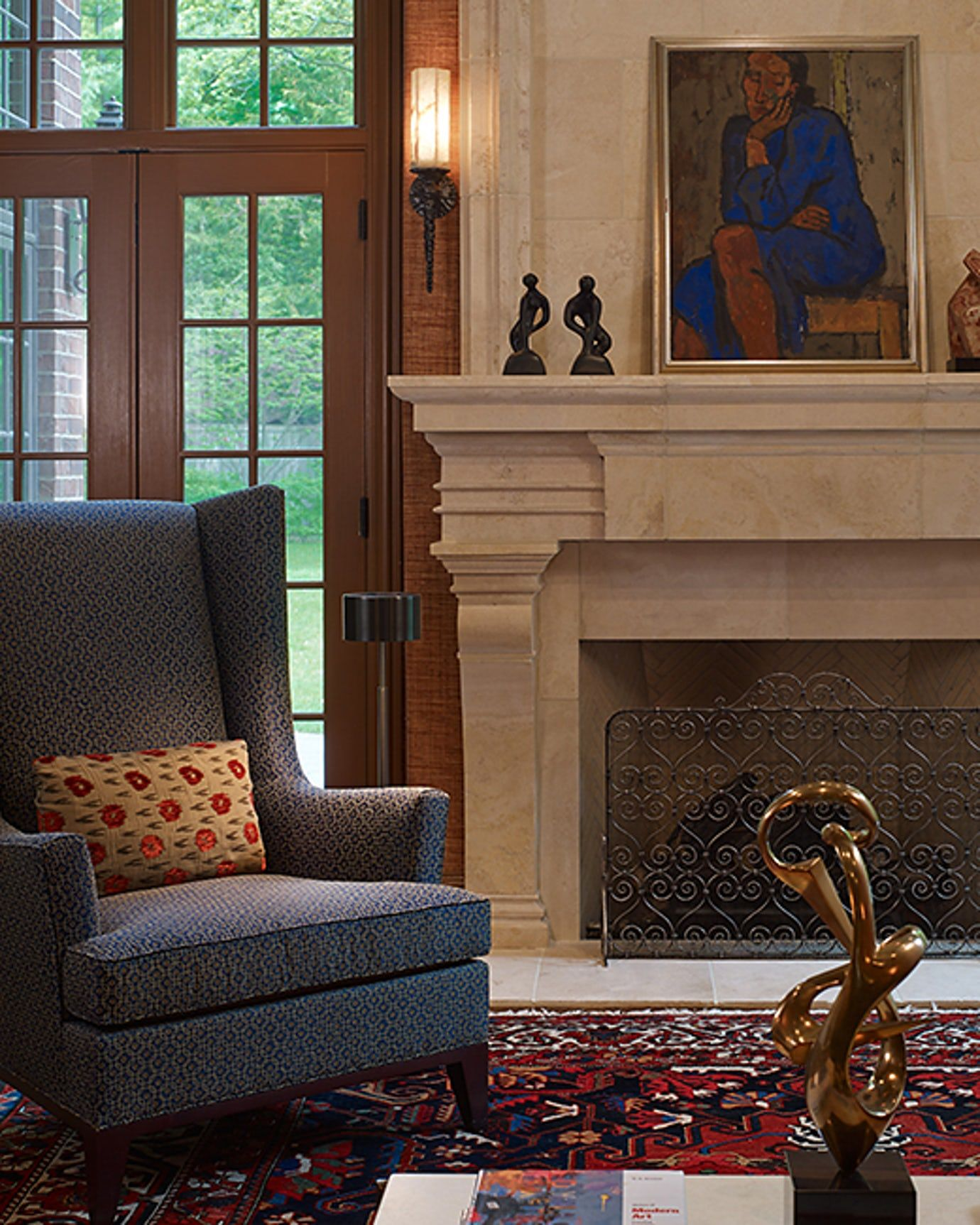 Harmony Family Room Detail Family Room Eclectic by ...