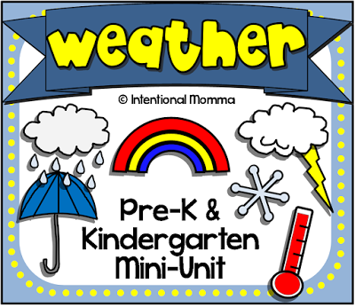 Weather Worksheets for Pre-K and Kindergarten