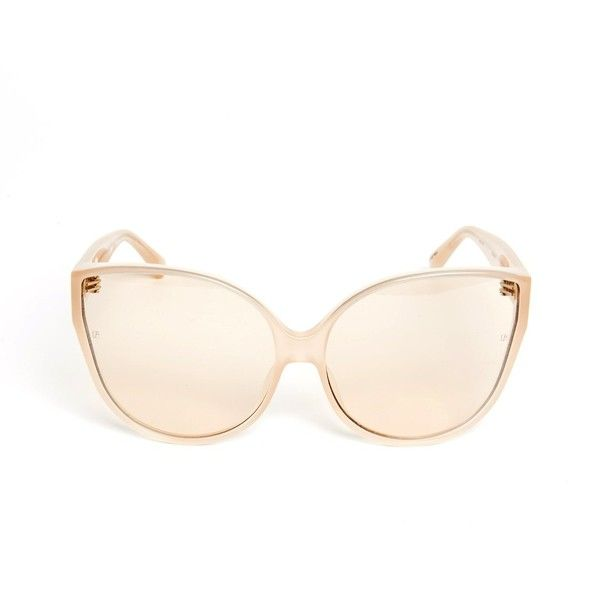 Free Shipping New Styles Order Cheap Online Milky peach rose gold sunglasses with cat eye frame Linda Farrow X8gP29uR9T