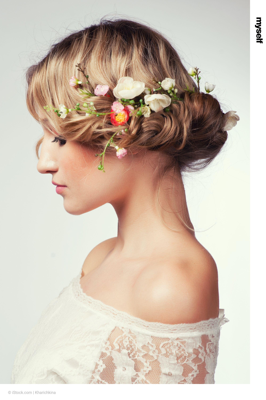 Brautfrisuren Fur Alle Haarlangen Hochzeit Frisuren Blumenkranz Frisuren Hochzeit Brautfrisur