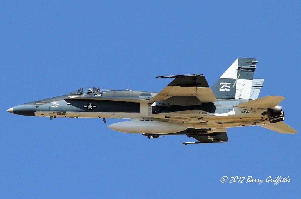 "McDonnell Douglas F/A-18C Hornet BuNo 163733 US Navy VFA-122 ""Flying Eagles"" CoNA NAS Lemoore, CA    par (Barry) Griffiths"