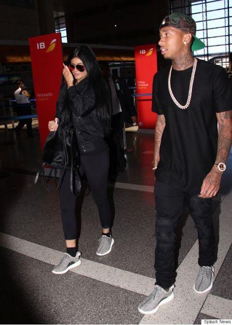 d207d5060bd92 Celeb Sneaker Game  Kylie Jenner   Tyga Wearing adidas Yeezy Boost 350.