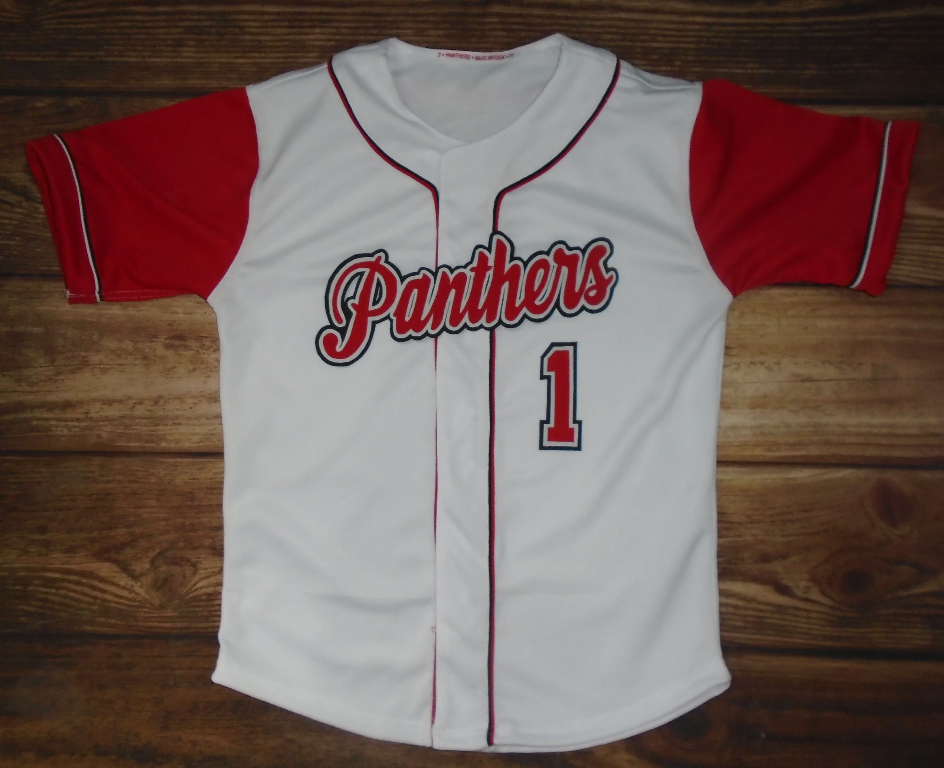 Panthers Baseball Custom Jersey Created At Darrows Sporting Edge In