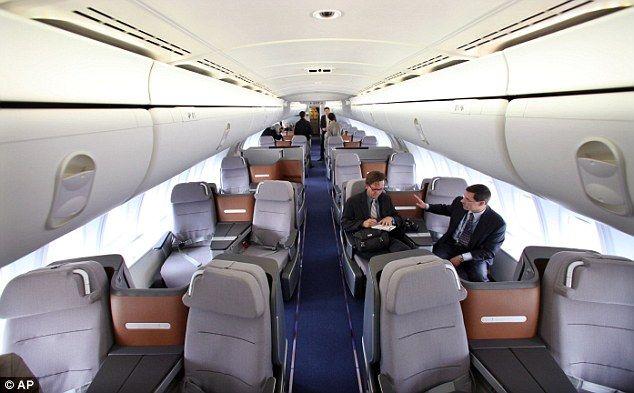 Lufthansa Boeing B747-8i business cabin