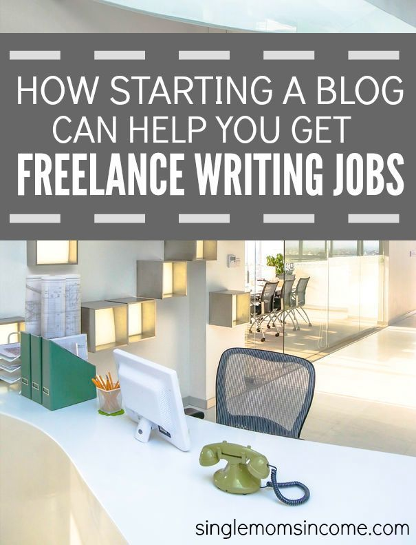 Blog your way to freelance writing jobs.