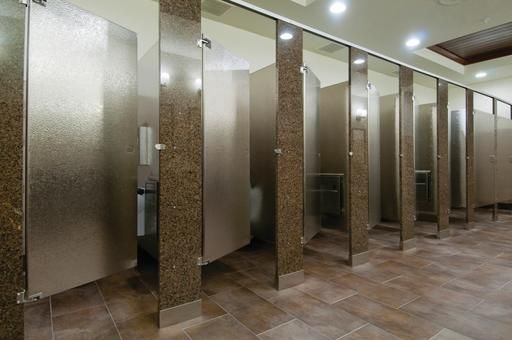 Granite And Stainless Steel Combination Restroom Toilet Partitions By Mills®