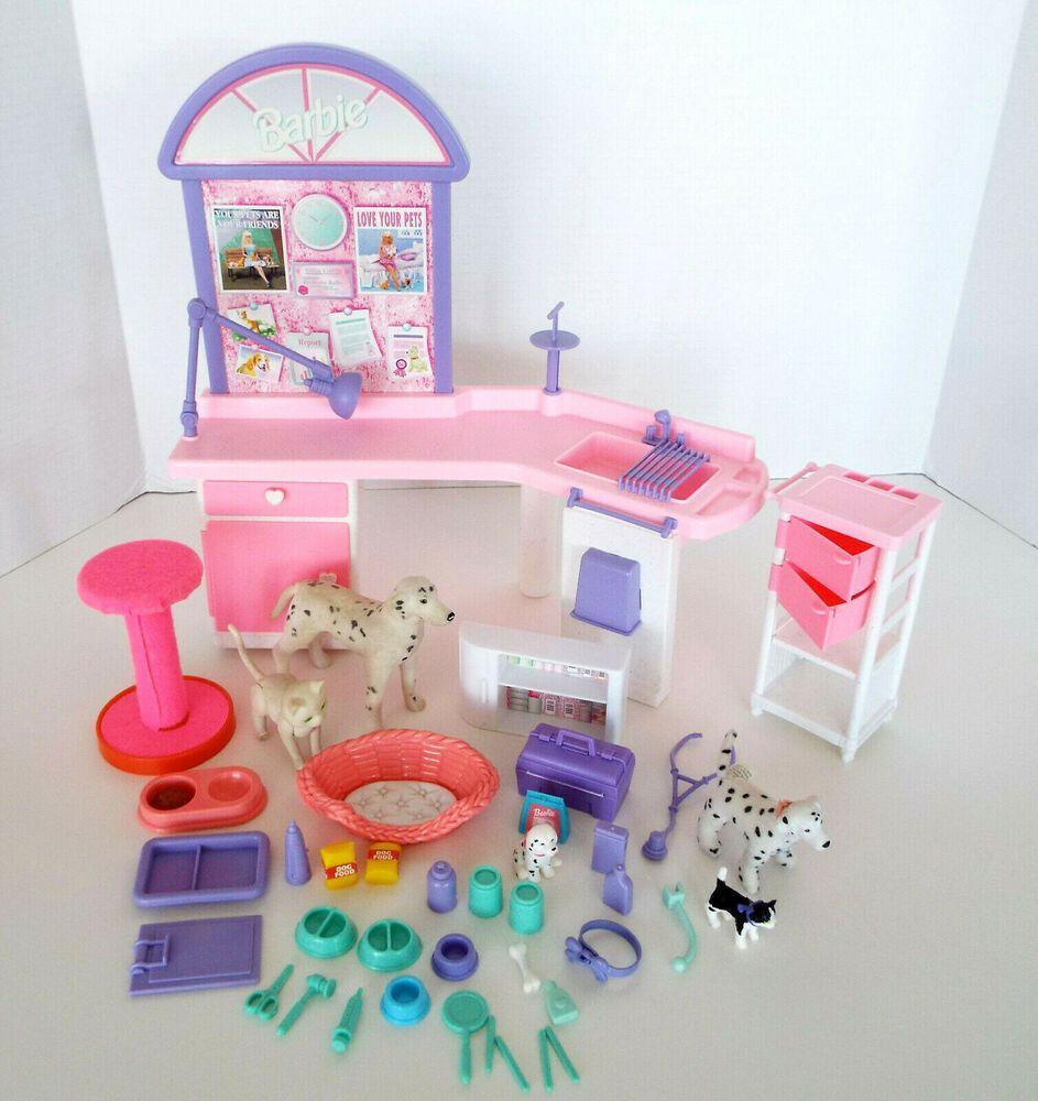 Vintage Barbie Love 'N Care Barbie Vet Center 1996 Pet