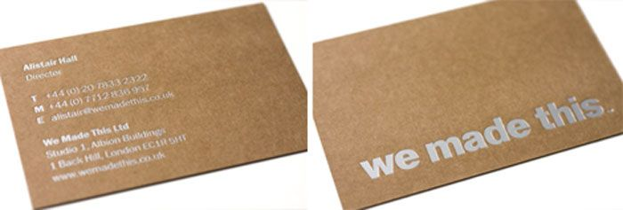 Kraft paper business cards 14 eye catching examples kraft kraft paper business cards 14 eye catching examples reheart Gallery