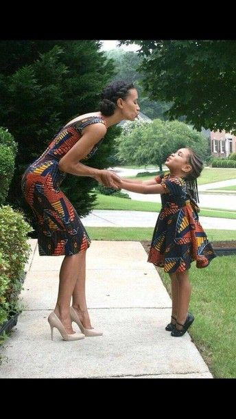 Mother Daughter Matching Dress Retro Dress 90s Style