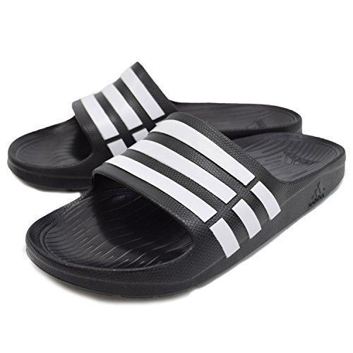 adidas Herren Badesandale Sandalen Badelatschen Badeschuhe DURAMO SLIDE  schwarz, Größe:UK 9 (43
