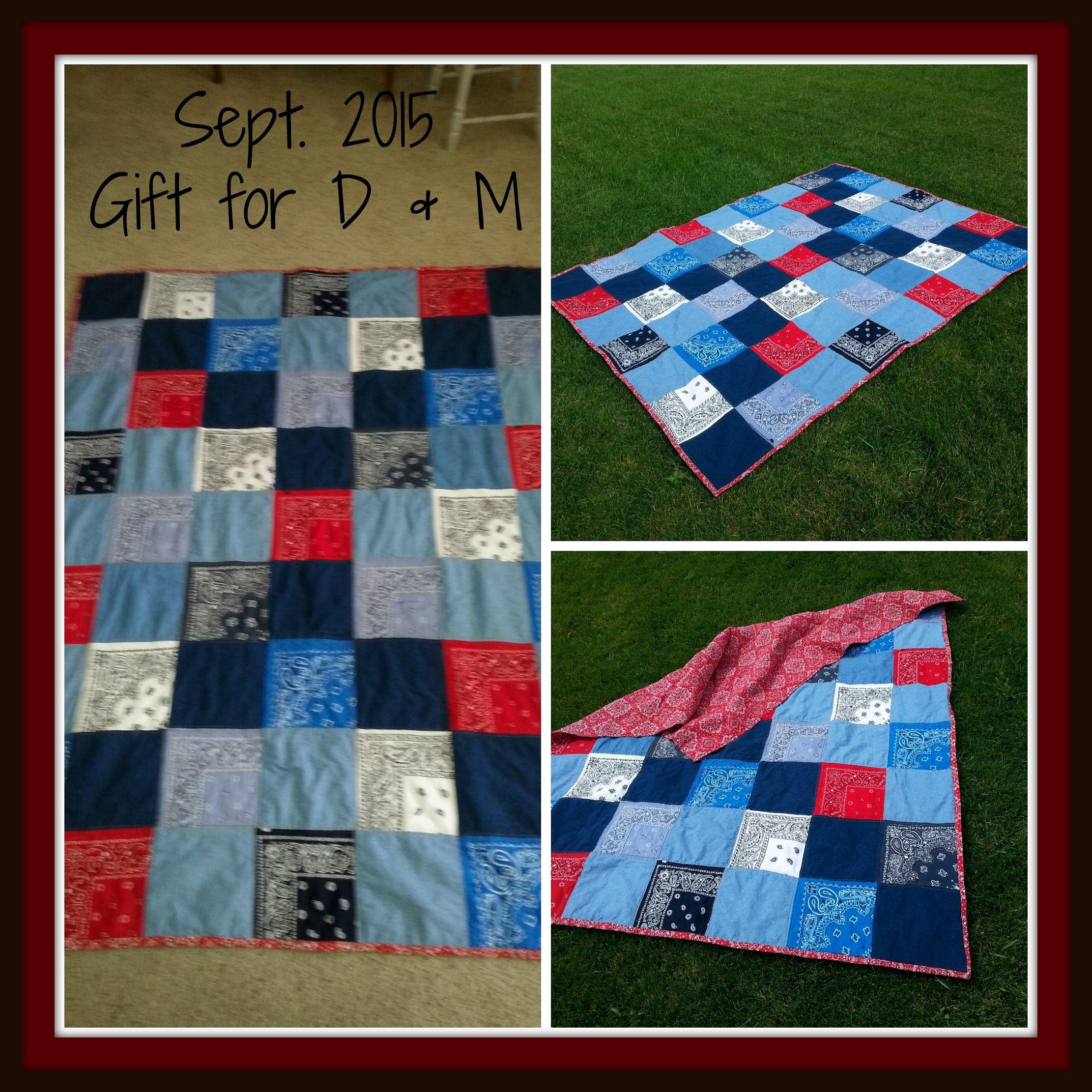 Jean & Bandana picnic blanket