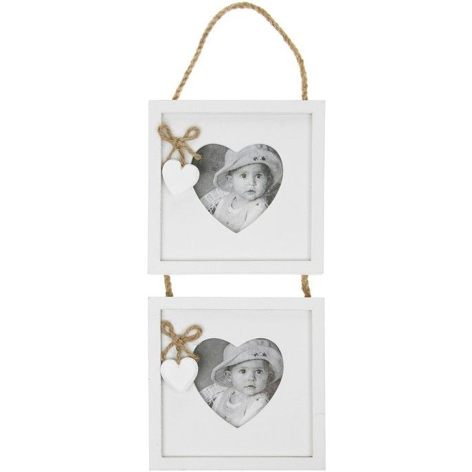 Provence range, white hanging heart, heart aperture picture frame ...
