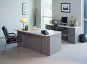Mayline CST7 CSII Desk and Credenza Set