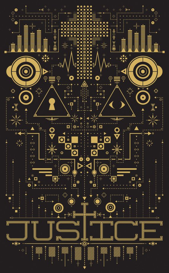 Justice Poster Gold by TaylorHicksArtShoppe on Etsy, $20.00