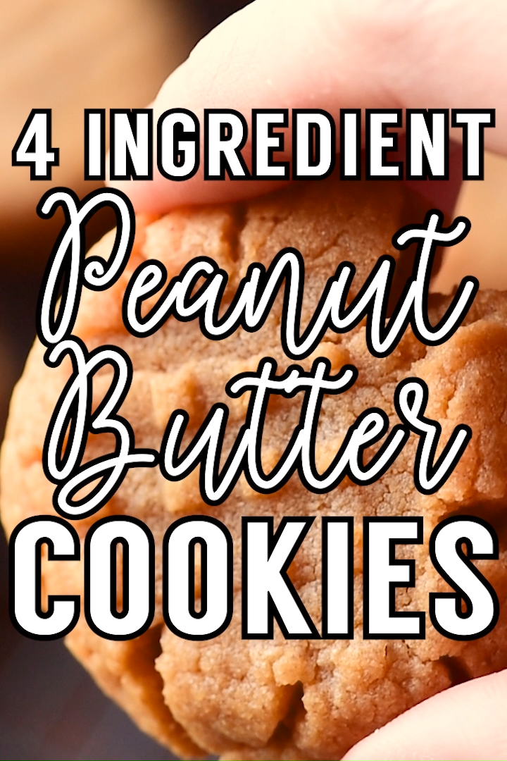 4 Ingredient Peanut Butter Cookies