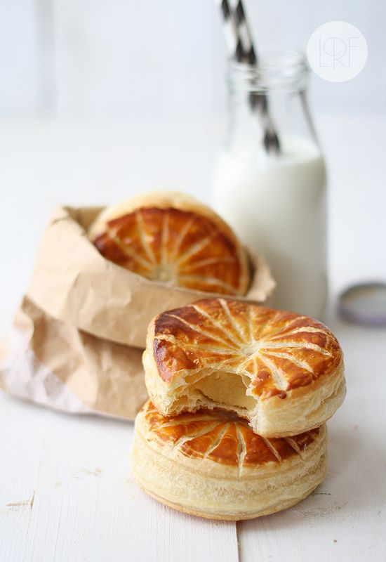 Galette des rois--puff pastry pie filled with frangipane