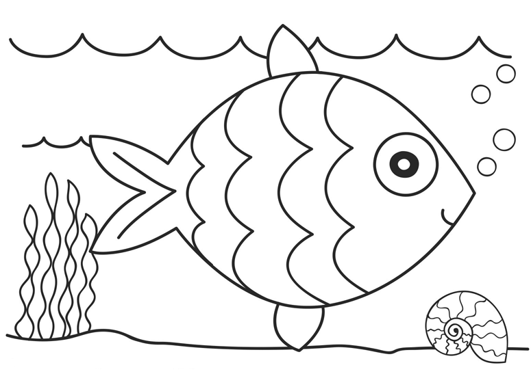 fish coloring page for child s sea quilt or wall hanging art - Simple Color Pages