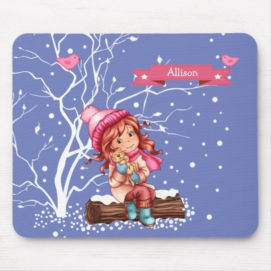 Custom Kid\u0027s Name Fun Christmas Gift Mousepads in 2018 Joyeux Noël