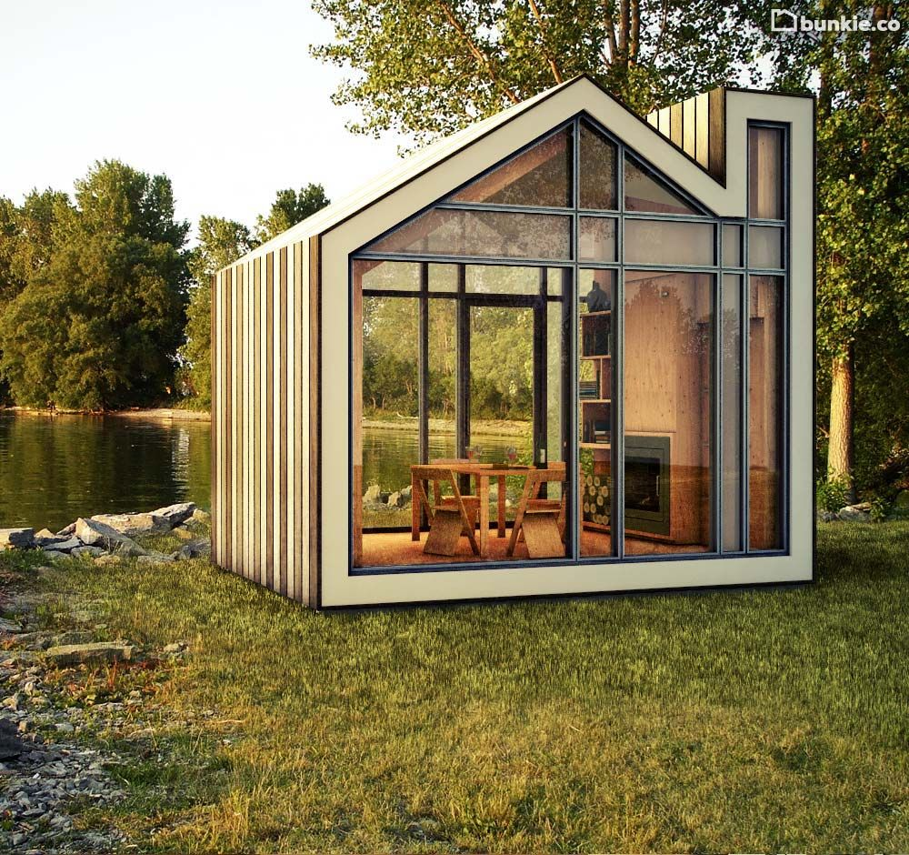 The Bunkie Prefab Home Is A Collaborative Effort Between Industrial Firm  608 Design And Architectural Design Firm BLDG Workshop, Resulting In A  Green Cabin.