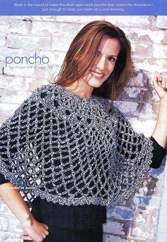Crochet En Acción: Poncho en tejido abierto