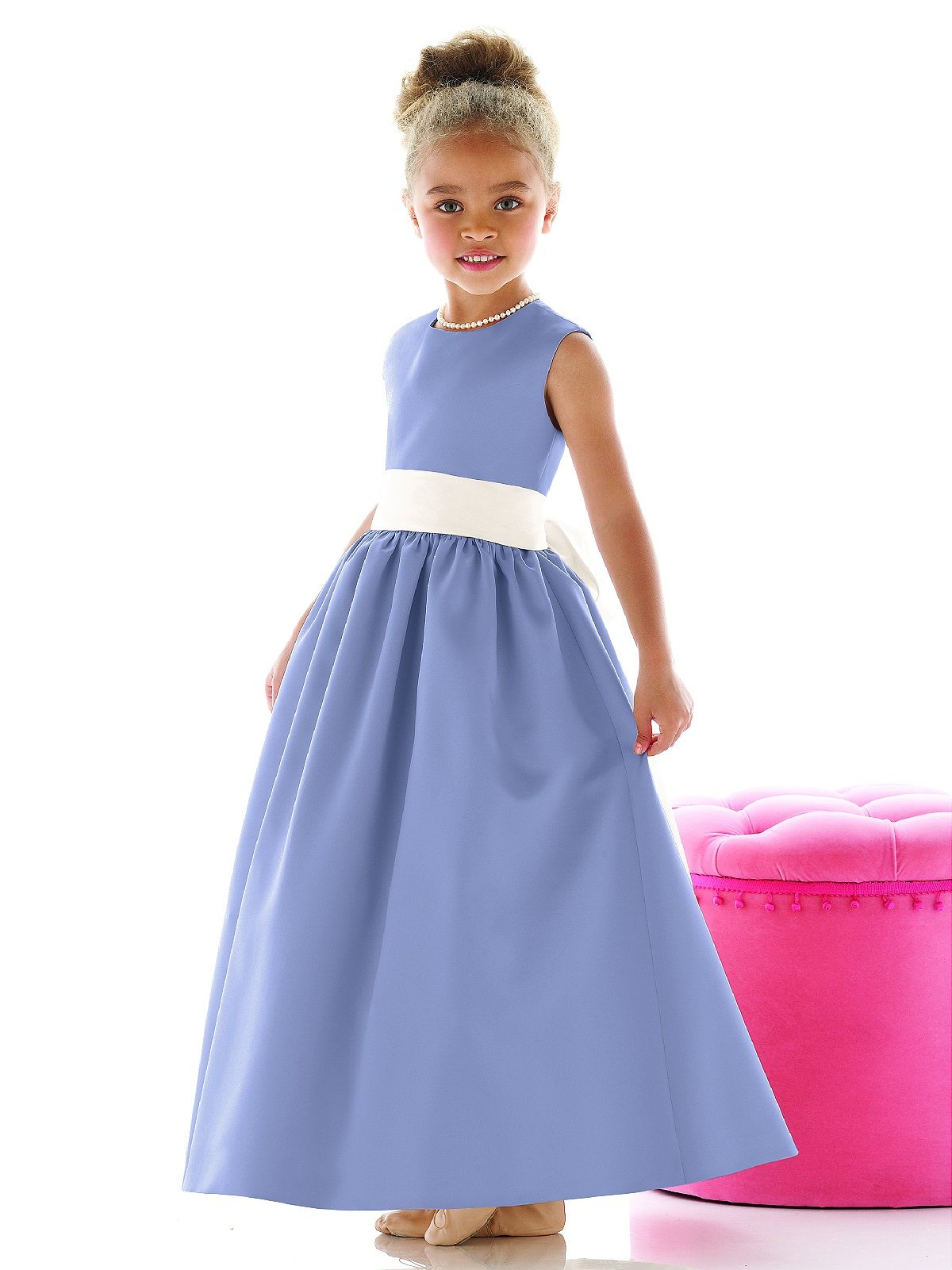 40bed9d1fdc Periwinkle dress and ivory sash for your little flower girl ...