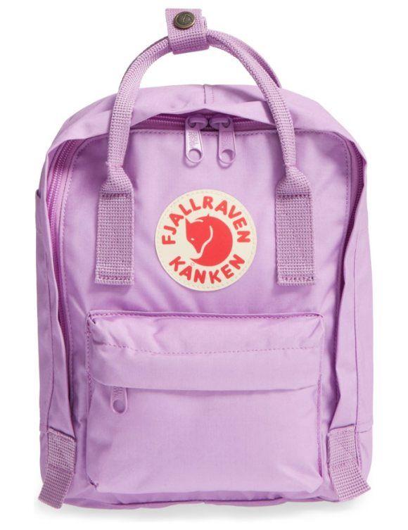 Fjallraven Mini Kanken Water Resistant Backpack Kanken Mini Water Resistant Backpack Purple Backpack