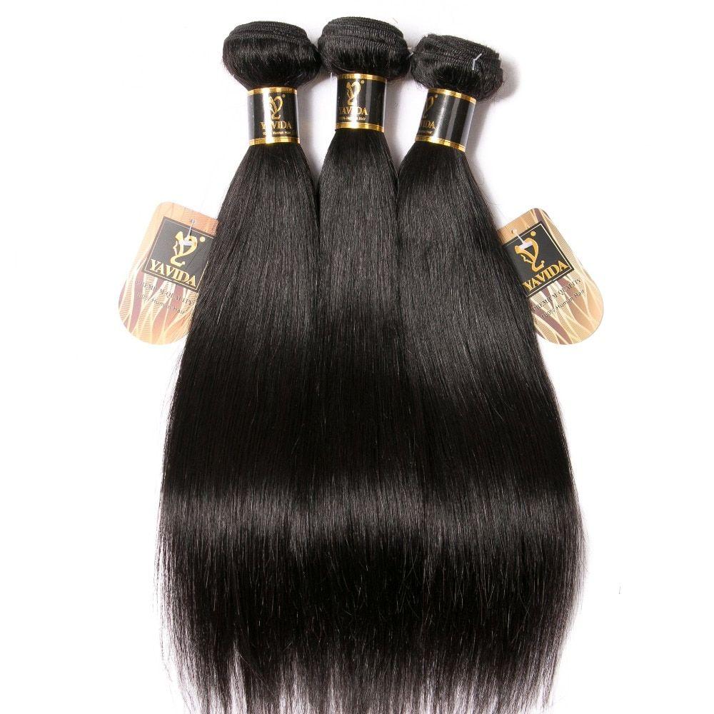 Yavida Hair Brazilian Straight Hair 3 Bundles 100 Human Hair Weave