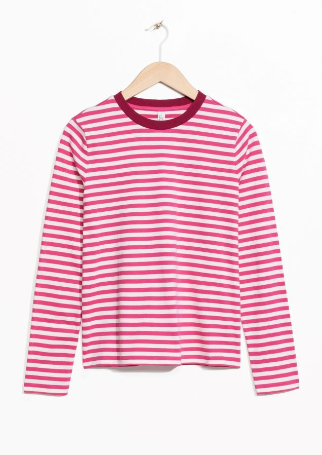 & OTHER STORIES Striped Long Sleeve Shirt Affordable For Sale Cheap Sale Low Shipping Discount Aaa Sj8D62BV