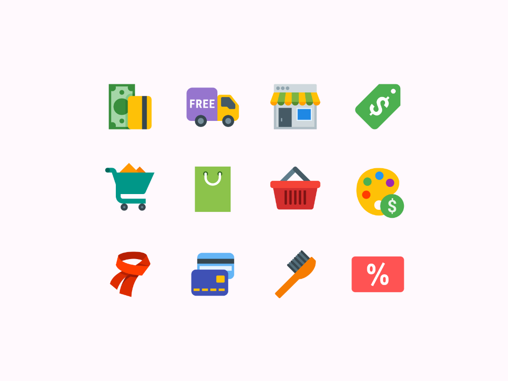 Shopping Color Icons Game Icon Design Icon Design Icon