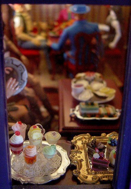 Dollhouse dining room looking in. by slurkflickr, via Flickr