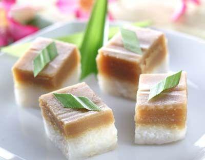 Resep Jajan Pasar Ketan Lapis Srikaya Resep Kue Kue Ketan Makanan Manis