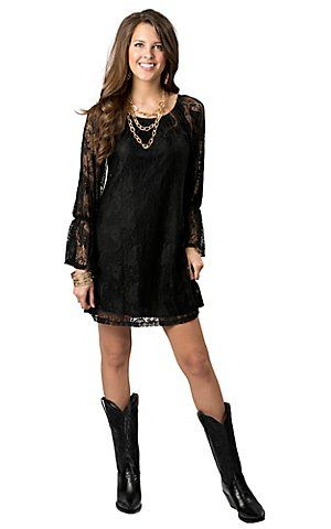Shop Women S Western Cowgirl Dresses Free Shipping 50 Cavender S Cowgirl Dresses Black Lace Long Sleeve Dress Western Dresses