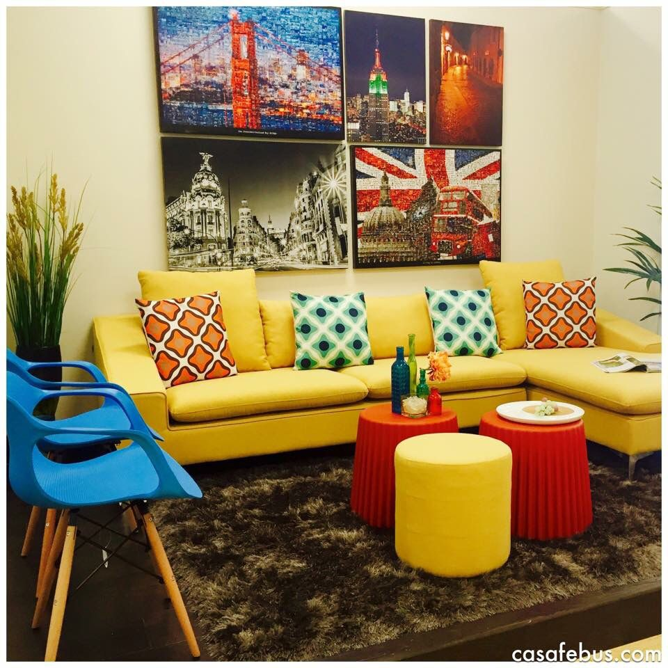 Urban Stylish Living Room; it's comfortable and chic, it ...