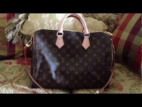 O que está na minha Louis Vuitton Speedy 35 Bandouliere Handbag
