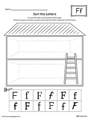 Sort The Uppercase And Lowercase Letter F Worksheet Worksheets And