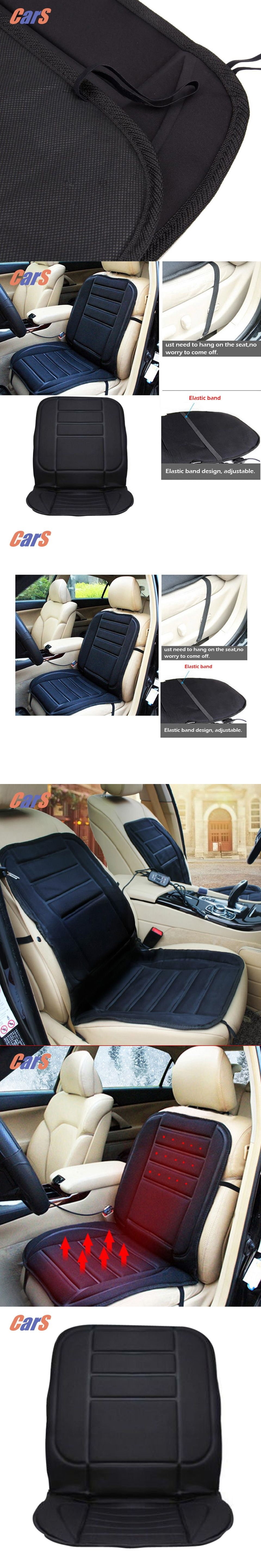 12V Car Seat Warmer Cover For Cold Days Heated Cushion Auto Heating