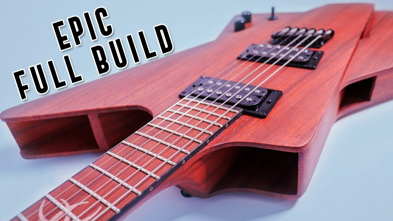 Full 2020 Guitar Build Video plus We GIVE IT AWAY! - A Unique Multi-scale Guitar Build Project