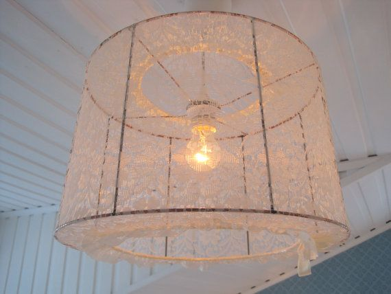 Lampshade Pendant lamp made in vintage lace by Missremaidsweden, $89.00