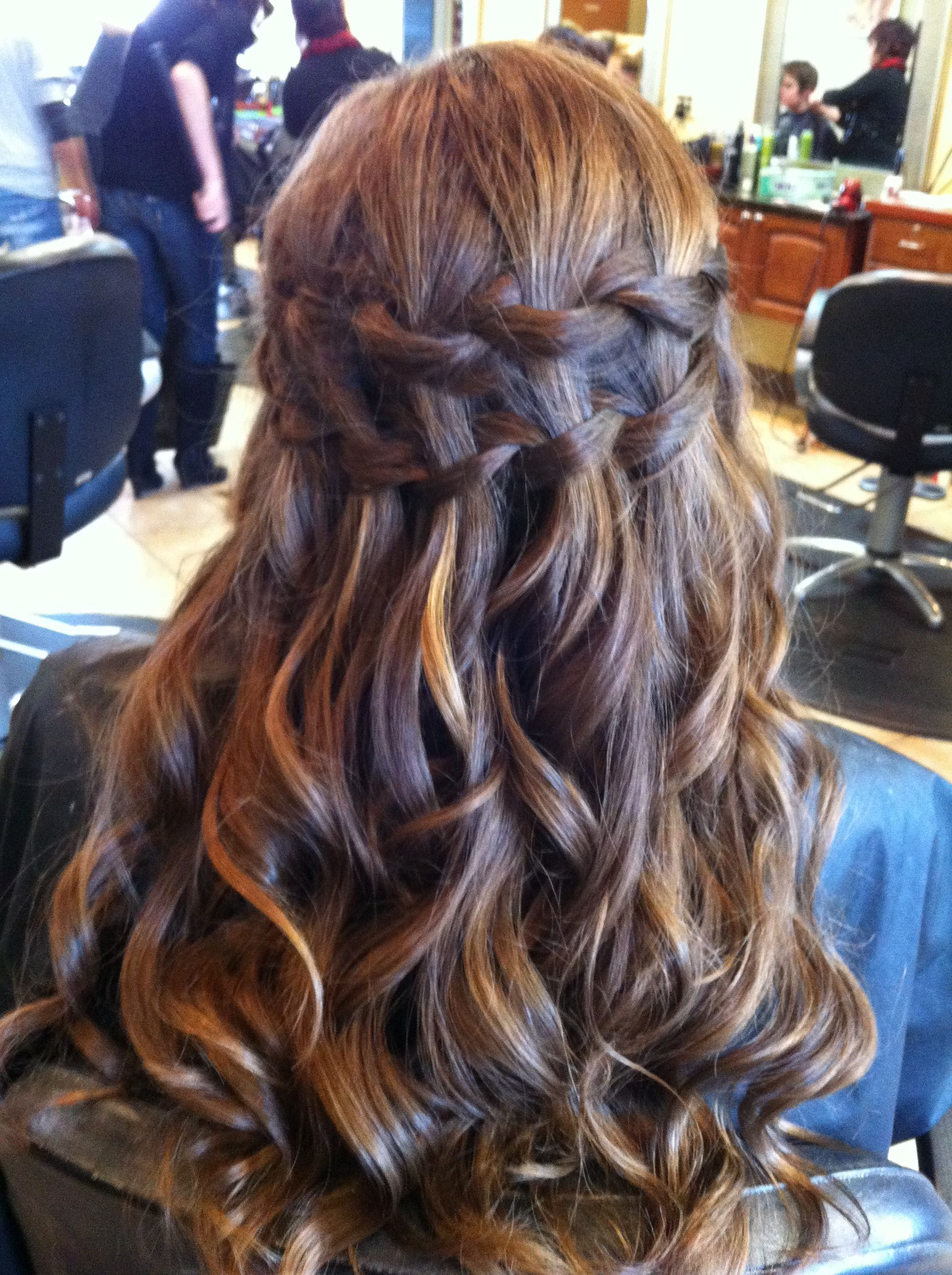 Double waterfall braid uci wish i could dothis nails makeup