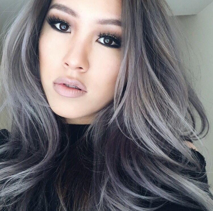 Grey Asian Look Gray Hair Highlights Silver Hair Highlights