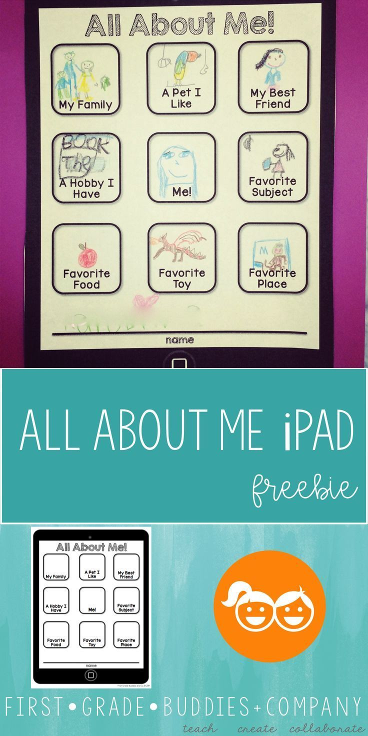All About Me iPad All about me printable, First grade