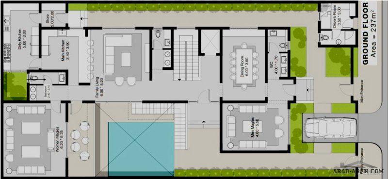 فيلا المخطط يتكون من قبو مكشوف و دور ارضي و دور اول و ملحق في السطح مساحة الارض 30 15 من مشاركات Abuturki1744 Floor Plans