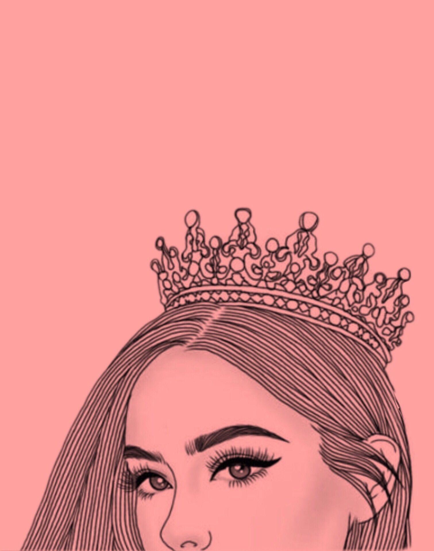 Tumblr Black Queen Crown Wallpaper