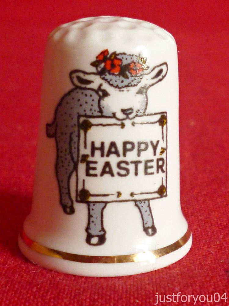 Birchcroft - Happy Easter - Collectors Thimble.