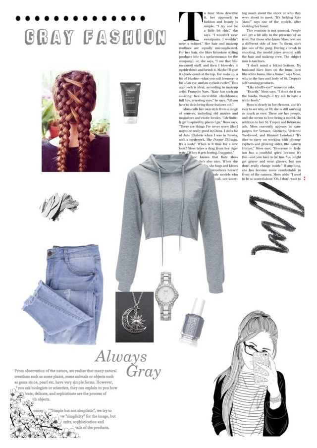 """""""Untitled #129"""" by beoncat ❤ liked on Polyvore featuring Essie, Living Proof, bürgi, Chantecaille and Bobbi Brown Cosmetics"""